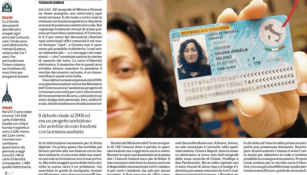 Publicação em jornal italiano